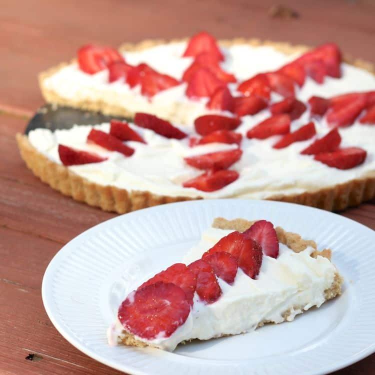White chocolate strawberry tart fashionedible for White chocolate and strawberry tart