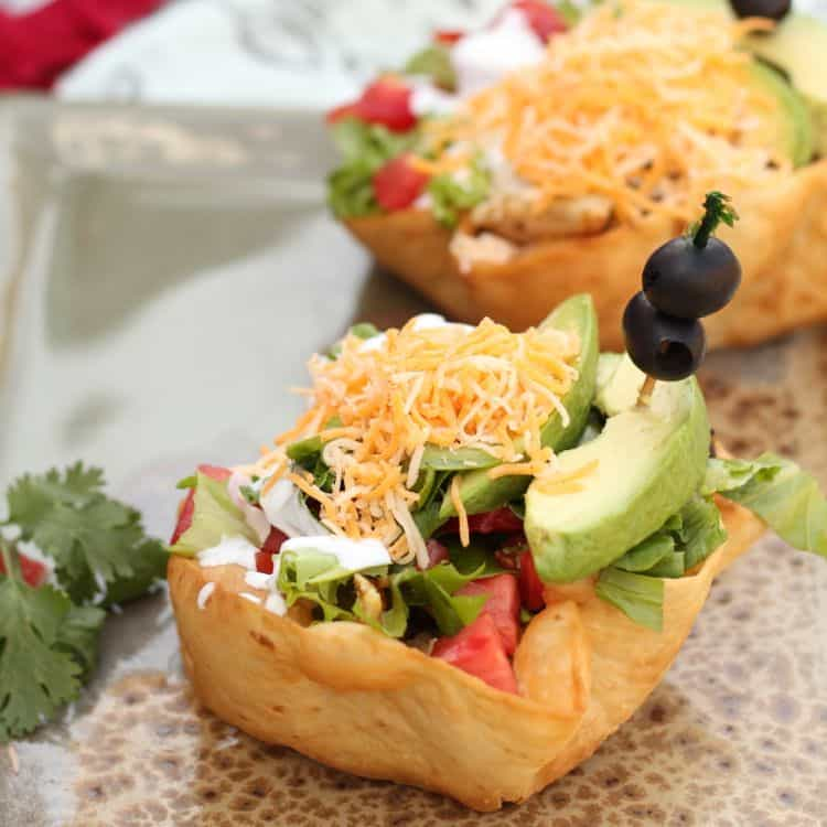 fried tortilla shell taco salad