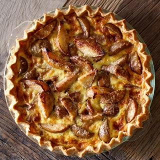 Custard Pear Pie