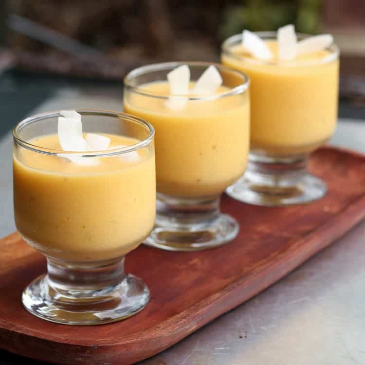 mango coconut fruit smoothie