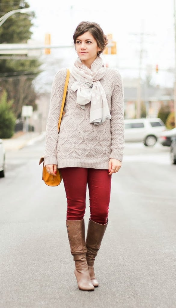 Winter Outfits Boots Scarves And Sweaters Fashionedible