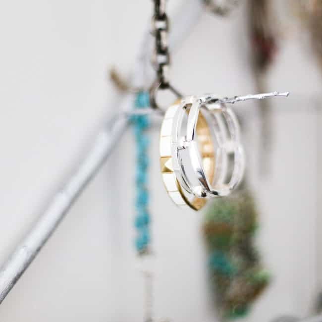 DIY Tree Branch Jewelry Holder