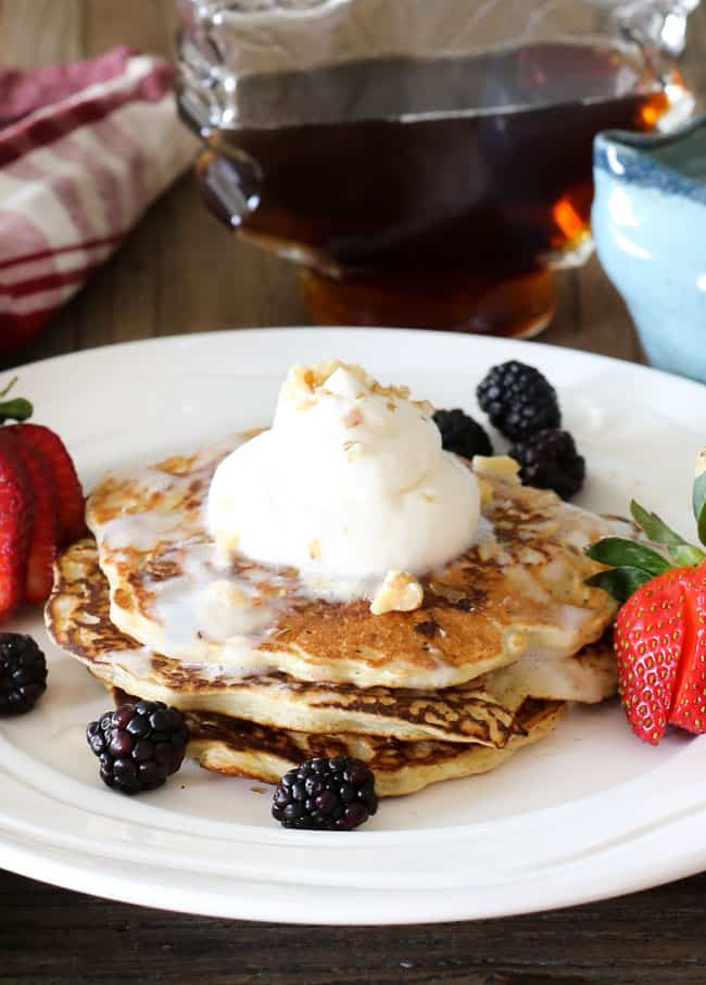 Gluten Free Blueberry Pancakes with Coconut-Maple Syrup ...