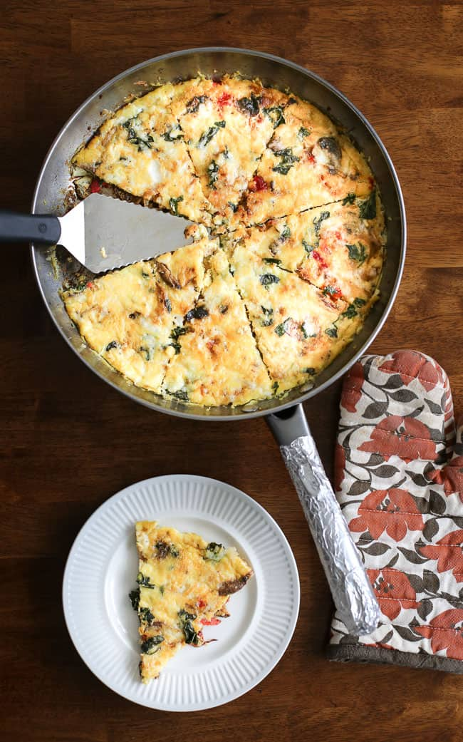 Roasted Chicken And Brie Frittata Recipe — Dishmaps
