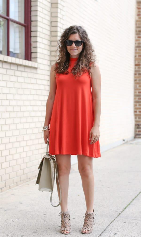 Red orange dress accessories