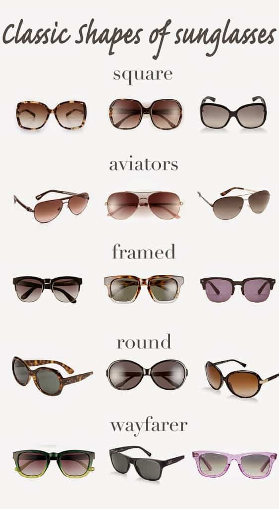 Classic Shapes Of Sunglasses Fashionedible