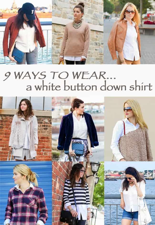 9 Ways to Wear a White Button Down Shirt - FashionEdible