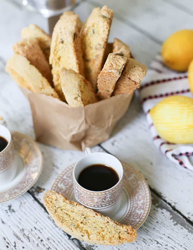 3x3 Food: Recipe Swap || Lemon Almond Biscotti - FashionEdible