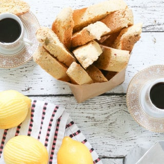 3×3 Food: Recipe Swap || Lemon Almond Biscotti