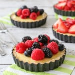 Almond Crusted Mixed Berry Tarts w. Lemon Custard