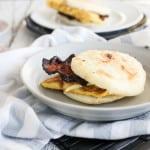 Gluten Free Bacon Egg Arepa Sandwiches