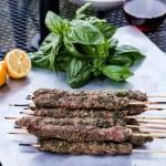 Lemon Basil Beef Kebabs