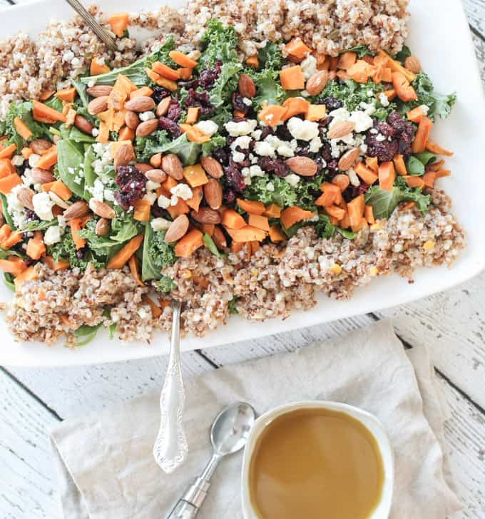 Kale Salad With Quinoa, Tangerines And Roasted Almonds Recipes ...