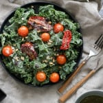 Kale + Sundried Tomato Salad w. Pine Nuts + Currants