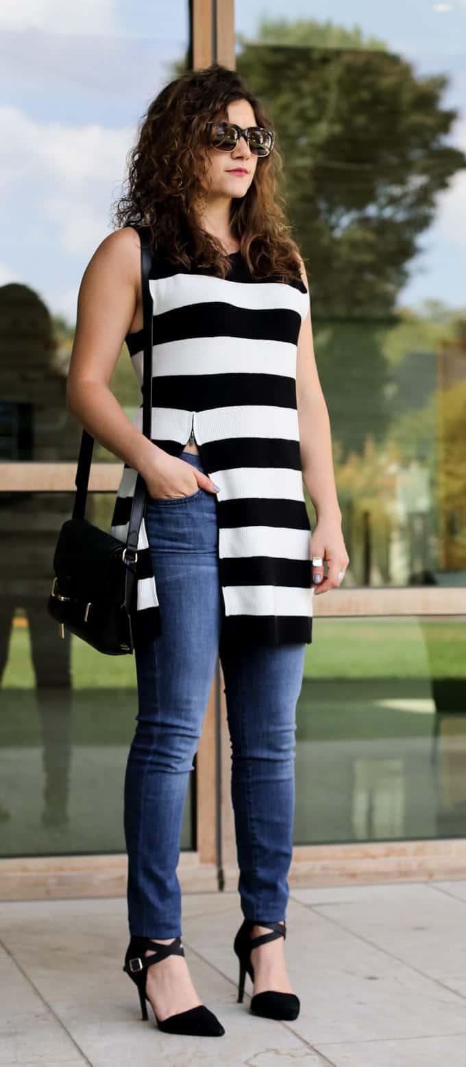 Striped Zip Tunic - FashionEdible
