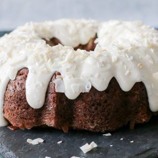 Currant Carrot Cake w. Coconut Lime Icing