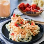Tagliatelle with Roasted Red Pepper Ricotta