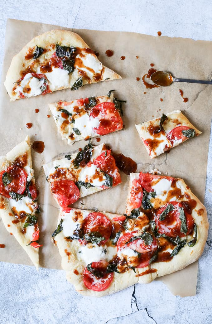 Fig Marsala Glazed Pizza with Burrata + Basil - FashionEdible