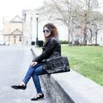 Spring Stylin' | Leather Jacket + Denim