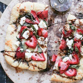 Strawberry Basil Pizza with a Balsamic Glaze
