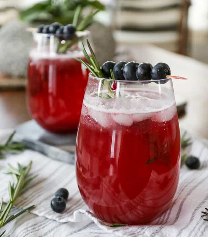 Blueberry Fig Sparkler with Rosemary