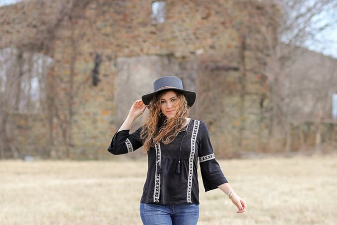 boho chic embroidered trend