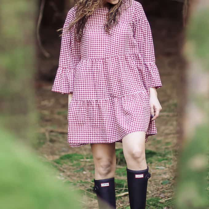 spring 2017 trends: red gingham dress