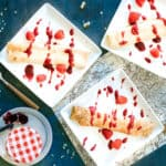 Mascarpone Stuffed Crepes with Raspberry Preserves…A Mother's Day Treat