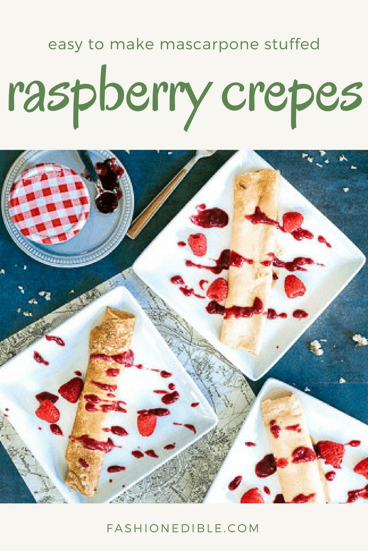 mascarpone stuffed crepes - easy to make