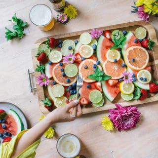 Summer Dusk Cocktail + A Colorful Fruit Platter