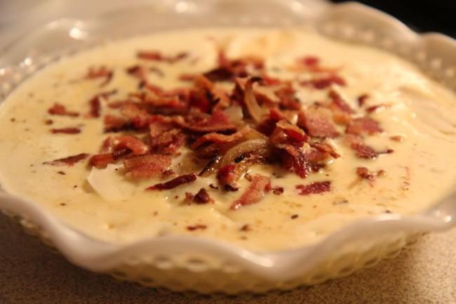 Bacon Cheese quiche breakfast brunch