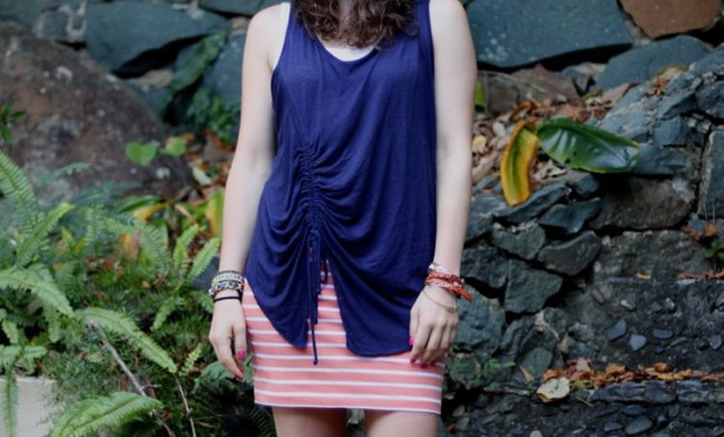 Orange Striped Skirt Kate Spade Sandals