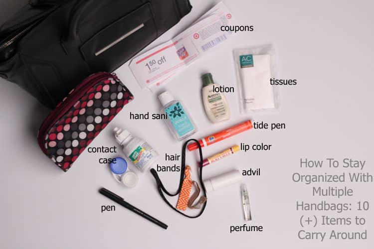 How To Stay Organized With Multiple Handbags