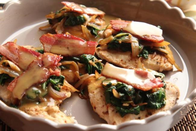 bacon dijon chicken mushrooms