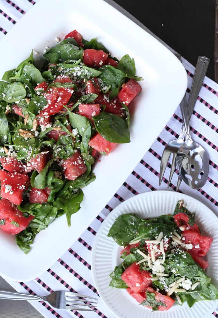 watermelon tomato healthy salad