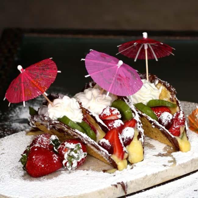 nutella fruit dessert tacos