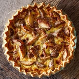 Custard Pear Pie