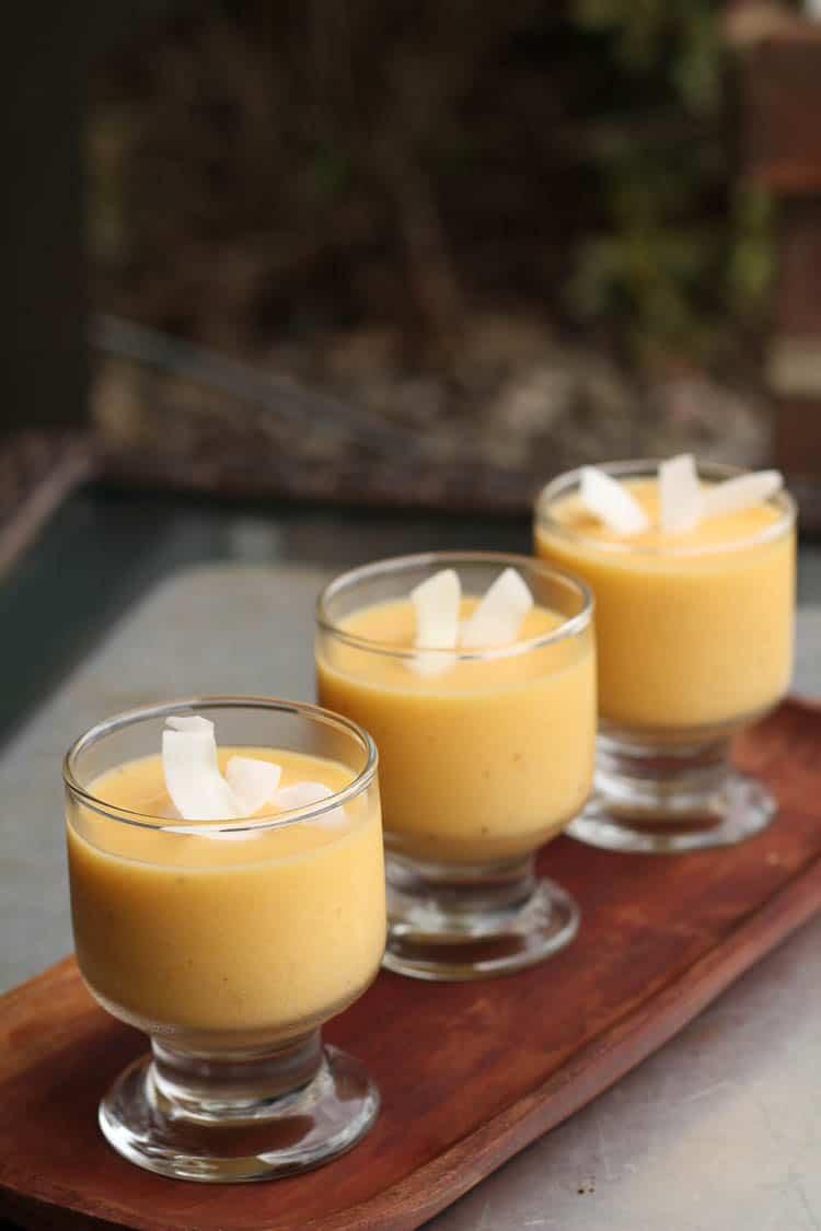 mango coconut fruit smoothie