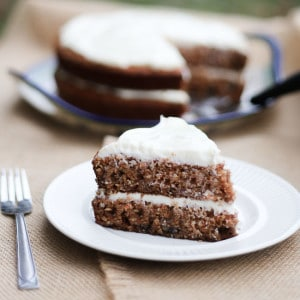 Fruit Filled Loaded Carrot Cake with Pineapple and Applesauce and Coconut