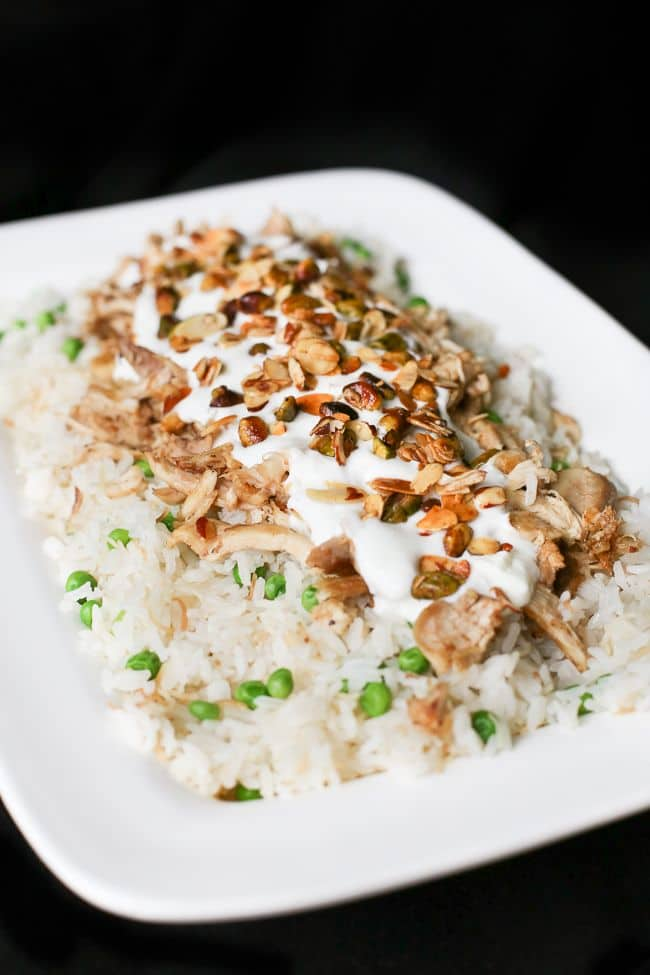 Middle Eastern Recipe for chicken, nuts and rice