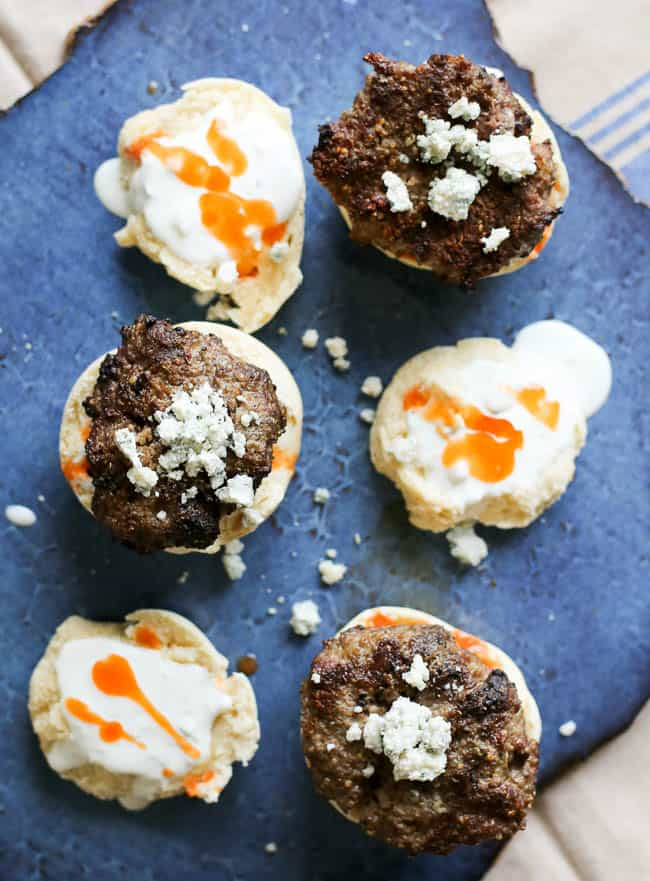 buffalo quinoa burger with blue cheese