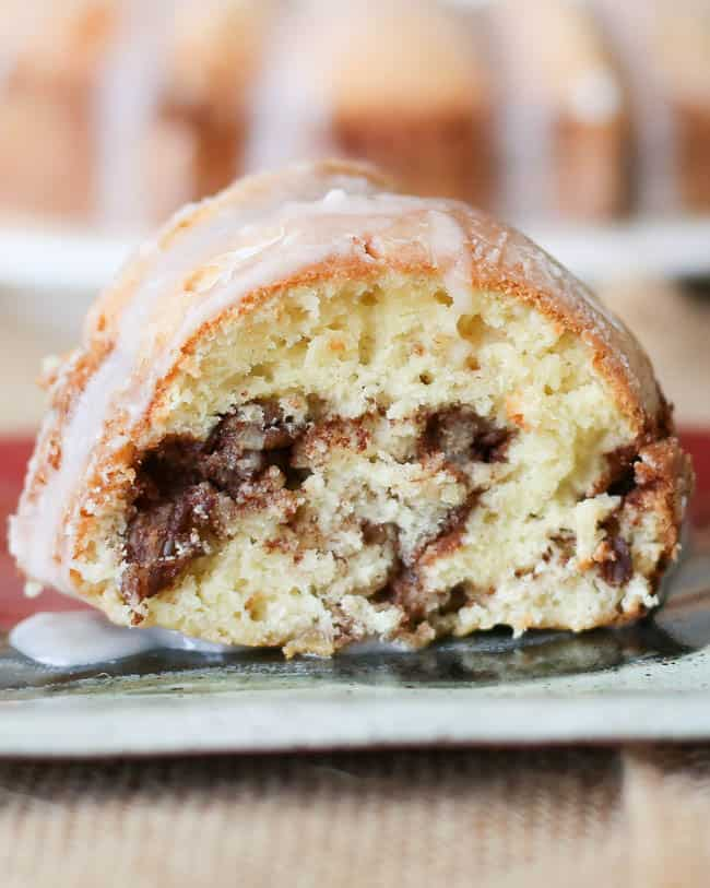 Glazed Cinnamon Pecan Coffee Cake