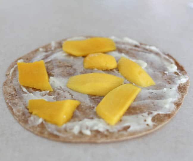 mango brie cilantro chicken quesadilla
