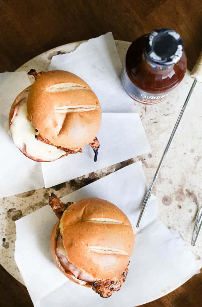 Pineapple Ham Grilled Chicken BBQ Burgers