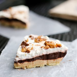 Four Layer Peanut Butter Chocolate Pie