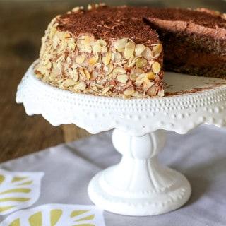 Gluten Free Chocolate Layered Chocolate Cream Cake