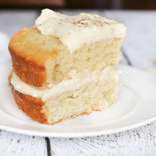 Layered Pear Cake with Rumchata Mascarpone Cream
