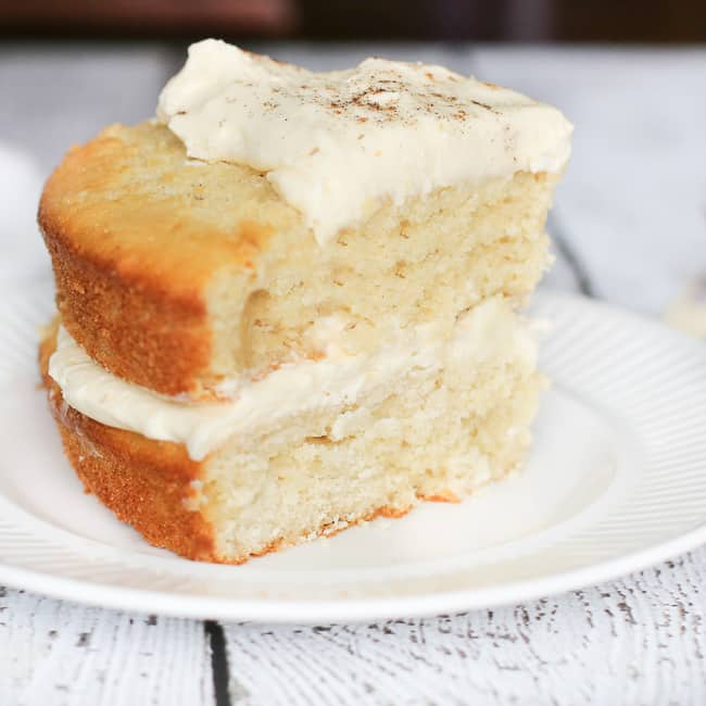 Layered Pear Cake with Rumchata Mascarpone Cream