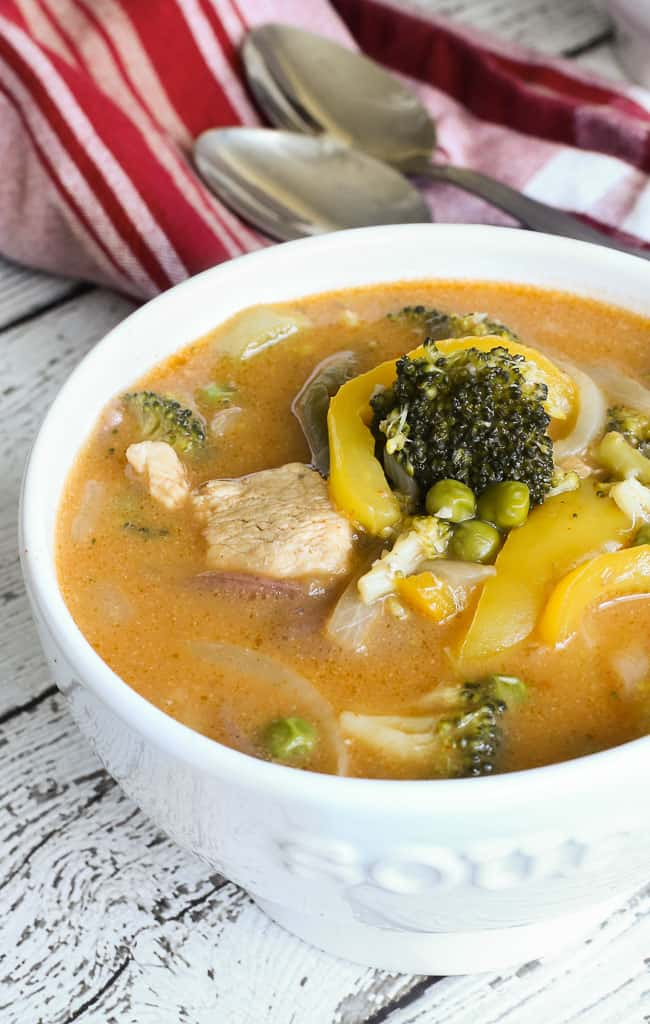 Thai Coconut Red Curry with Vegetables