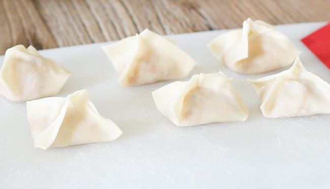 Lightened Asian Style Dumplings with Turkey - tastes just as amazing without the meat!